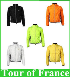 Vélo vélo veste de manteau de pluie en Ligne-Cycle TOUR DE FRANCE respirant vélo vélo vélo imperméable Rain Coat Raincoat Vent Windcoat Jersey Jacket, 5color
