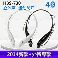 Wholesale HBS HBS Sports Neckband Headset In ear Wireless Headphones Bluetooth Stereo Earphones Earphone Headsets For LG Free DHL Shipping