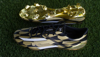 brazil shoes - Hot Sale Golden Boot Soccer Shoes for men Brazil World Cup F50 Gold Soccer Boots Brand FG50 Outdoor Football Shoes BNIB