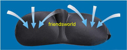 Wholesale D Health care black sleeping mask eye cover for sleeping eyeshade snoring products
