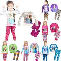 Cheap new Frozen Princess children's clothing sets,cut cartoon girls pajama sets,toddler baby kids pijama sleepwear suit,retail mix