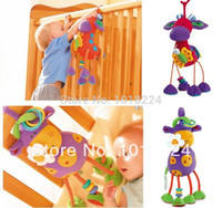 Cheap Free shipping 2014 new Baby rattle toys Germany TOLO Maverick deer car bed lathe hanging plush toys baby mobiles kid rattles