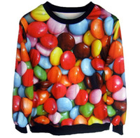 2014 Fashion Tie-dyeing Candy Loose Sweatshirt Women 3D Pullover Hoodie #031029