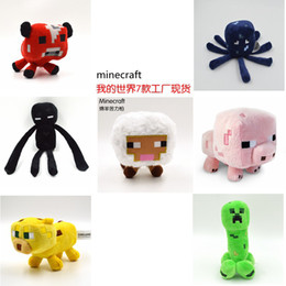 Wholesale Minecraft Enderman creeper Mooshroom sheep squid cow pink doll pig styles plush toys A001