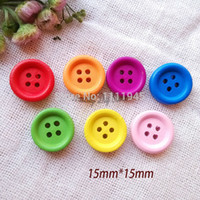 Wholesale mm colorful newest round decorative cute wooden buttons Craft sewing accessories Scrapbook