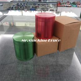 Wholesale 5 part mm CNC aluminum grinder shisha hookah smoking pipe vaporizer rolling machine paper glass bongs snuff bottle pill box cigarette case