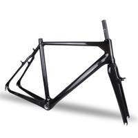 bicycle brake - New Bicycle Frameset K Gloss V brakes Full Carbon Cyclocross Bike Frame Fork BB30 cm