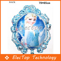 aluminum foil mirror - Frozen Balloon Toys for Birthday Party Princess Frozen Elsa Anna Aluminum Foil Cartoon Mirror Balloons cm