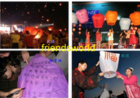 Cheap Wholesale - 100pcs lot Chinese Kongming lantern Sky Lanterns Wishing Lantern fire balloon Birthday Lanterns