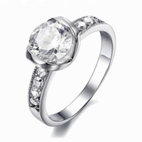 Band Rings resin material - New Arrival A Cubic Zircon Ring Stainless Steel Material on Platinum Plated OTR09