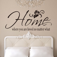 Removable art matters - Vinyl Wall Art Stickers Decor Quote Decals Home where you are loved no matter what Rome Decor