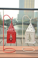 Wholesale 2013 New Christmas Tree design Iron lantern Metal Candle Holder with Stand Christmas Gift House or Party decoration
