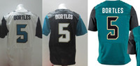 Cheap NEW Cheap 5#Bortles black&green&white men's Elite Jaguars american football jerseys