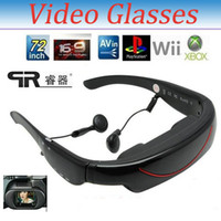 Wholesale Brand Inch Virtual Screen Video Theater Eyewear Hd Video Glasses With GB Memory AV input Video Music Picture E book