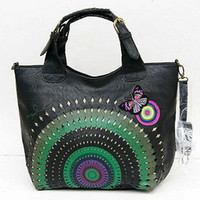 handbags - 2015 New Black Butterfly DESIGUAL womens handbag Messenger shoulder Bag