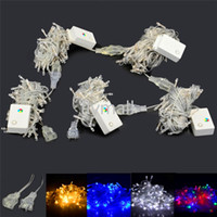 Wholesale 110V V M LED Chain Fairy String Lights for Holiday Christmas Xmas party Warm White Red Yellow Blue Green Purple Pink MultiColor