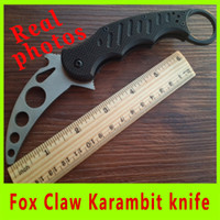 Cheap Real picture New G10 handle Fox Claw Karambit Training Folding knife Outdoor gear EDC Pocket Knife cutting tool Christmas Gifts 232X