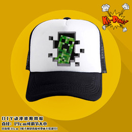 Wholesale Minecraft my world Tide cap sun hat baseball cap You can customize the patternTT37740632448 H