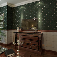 Wholesale Retro Green American Country Classic Argyle Woven Wallpaper Living Room Bedroom Backdrop