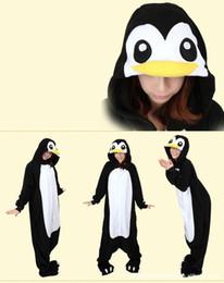 Wholesale Black Penguin Kigurumi Pajamas Animal Suits Cosplay Outfit Halloween Costume Adult Garment Cartoon Jumpsuits Unisex Animal Sleepwear