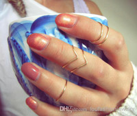 Cheap Three Stone Rings Knuckle Ring Sets Best Bohemian Men's Silver or Gold Handmade
