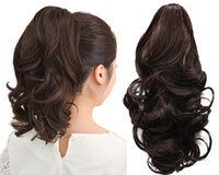 Wholesale NEW Stylish Curly Ponytail Extension Long Claw Clip on Layered Hair Piece pp42
