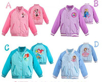 baseball princess - 5 colors Frozen Girl Elsa Anna Sofia Princess sport Baseball Outerwear Coats autumn children s Cartoon jackets