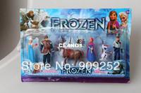 Wholesale Frozen Figure Play Set Anna Elsa Hans Kristoff Sven Olaf set Toys Hobbies Action Toy Figures set