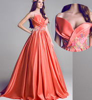 Wholesale 2014 Autumn Winter New vintage Sexy Evening Dresses With Satin Sweetheart Sleeveless Sliming A line Floor length Custome made