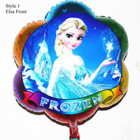 Wholesale 45 cm cartoon helium party balloons frozen foil balloon christmas mylar hydrogen balloon novelty gifts and toys for kids christmas gifts