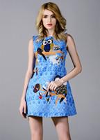 Europe Style Autumn For Big Girls Dress Cotton Owl Birds Pri...