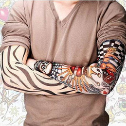 Wholesale 6 Styles Mix Stretchy Temporary Tattoo Sleeves New Fashion Arm Stockings with pack