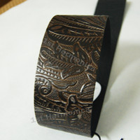 Wholesale New Knurling Floral all Genuine Leather Guitar Strap Acoustic Electric Classic Folk Christmas gift