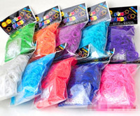 Jelly, Glow Silicone Halloween Colorful Rainbow Loom kit Rubber band loom Bands bracelet amazing gift for children single colors handmade DIY 600pcs bands+ 24S 13 colors
