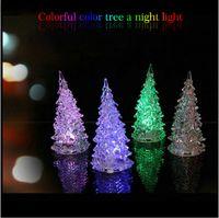 Wholesale 40 Christmas Tree Colorful Night Light Santa Claus Chrismas gift LED luminous Christmas tree christmas decorations christmas ornaments