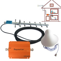 Wholesale Smart Mhz Cell Phone Signal Booster G G CDMA Repeater Amplifier GSM Mobile Phone Repeater Orange Color