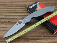Wholesale Spyderco C36TIFP Titanium handle CPM S30V Blade Folding Knives Ti Mil Titanium Military Camping knife tools