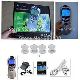 Wholesale With English Retail Box Tens Acupuncture Digital Therapy Machine Massager Pulse Body Massager With self Electrode Pads