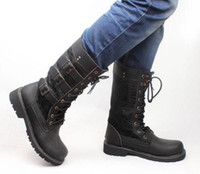 Wholesale Classic style plus size men martin boots fashion high spring and autumn male leather military boots