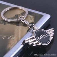 car accessories logo - Excellent Key chain logo key rings for mini cooper clubman others with black logo lockCar key Chain Brilliant car accessories