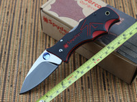 Cheap New Spyderco 440C Blade CNC Folding Knives Digital G-10 Handle Camping knife tools