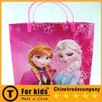 Cheap Free Shipping Frozen Handbag 10pcs Frozen Elsa Anna Gift Bags Kids Birthday Party Supplies Frozen Gift Loot Bags Hand Bag Shopping Bags