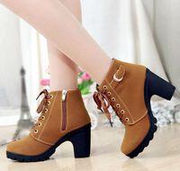 Wholesale 2014 New fashion Australia lace up High heels women s popular Martin boots winter fashion leisure women shoes NXZ16
