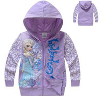 clothes for kids - Frozen Girls Winter Children Outerwear Kids Jackets Coat Hoodies Clothing boy New Brand For Baby Roupas Infantil Meninas