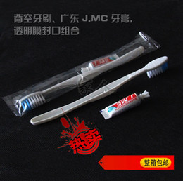 Wholesale Disposable Toothbrush and Toothpaste Suit One time Dentifrice Travel Hostel Guesthouse Hotel Supplies The low end Toothbrushes