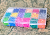 Wholesale 18 colors PERLER BEADS plastic box set MM Hot educational toys accessories