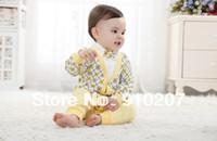 Cheap Wholesale-2013 3pcs baby clothing set plaid boys gentleman suit autumn-summer coat+T shirt+pants kids clothes infant outerwear,Retail,1set