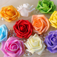 artificial flowers - Hot Sale Artificial Foam Roses For Home And Wedding Decoration Flower Heads Kissing Balls For Weddings Multi Color Cm Diameter