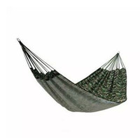 Cheap DHL Free Shipping 20PCS lot new leisure hammocks camping hammock single outdoor camouflage canvas hammock swing shaker