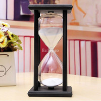 sand timer hourglass - New Minute Wood Black Frame Sand Timer Hourglass Gifts Home Decor Gift Presents